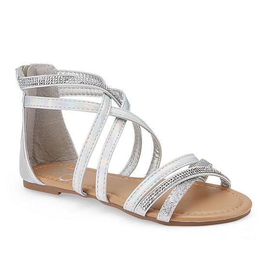 34746101286933 Olivia Miller Socca Girls Strap Sandals - Little Kids Big Kids - JCPenney