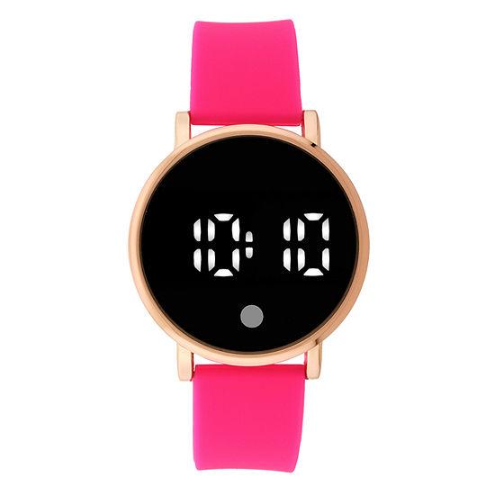 Womens Digital Red Strap Watch-18475