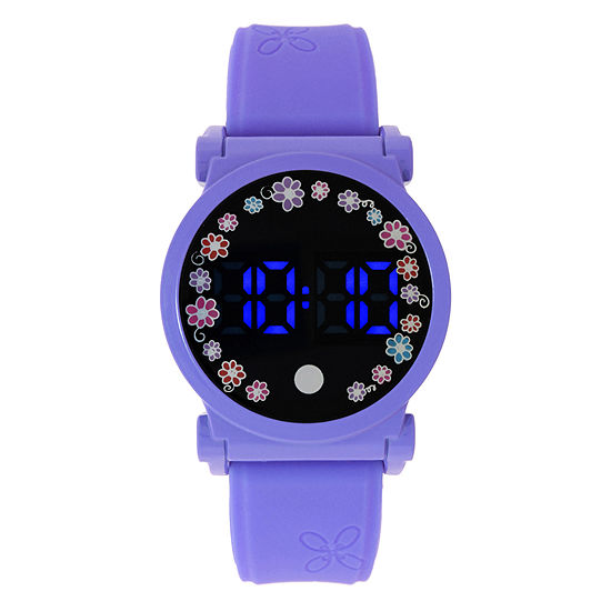 Womens Digital Blue Strap Watch-18541