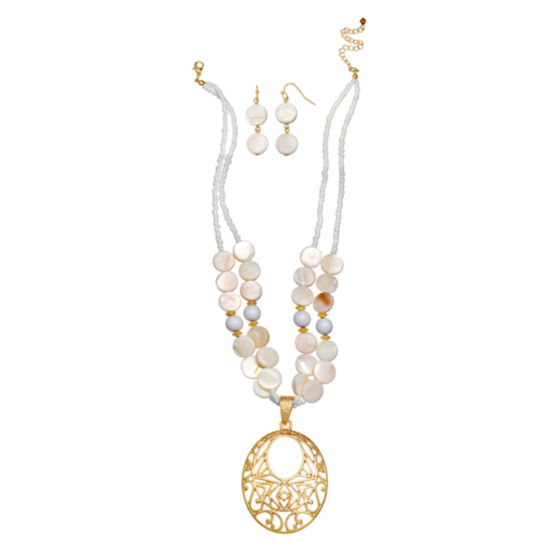 Mixit Womens Gold Tone 2-pc. Jewelry Set