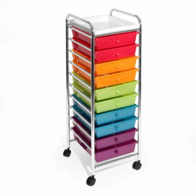 Seville Classics® 10-Drawer Organizer Cart