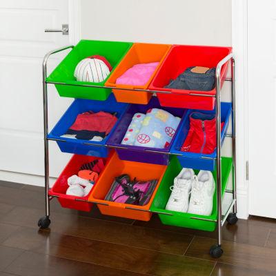 Seville Classics® Mobile Toy Organizer, 9-Bins
