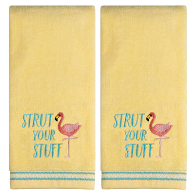 Saturday Knight Strut Your Stuff 2-pc. Embroidered Hand Towel