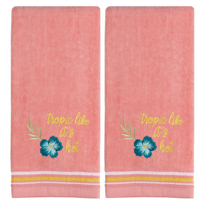 Saturday Knight Tropic Like It'S Hot 2-pc. Embroidered Hand Towel