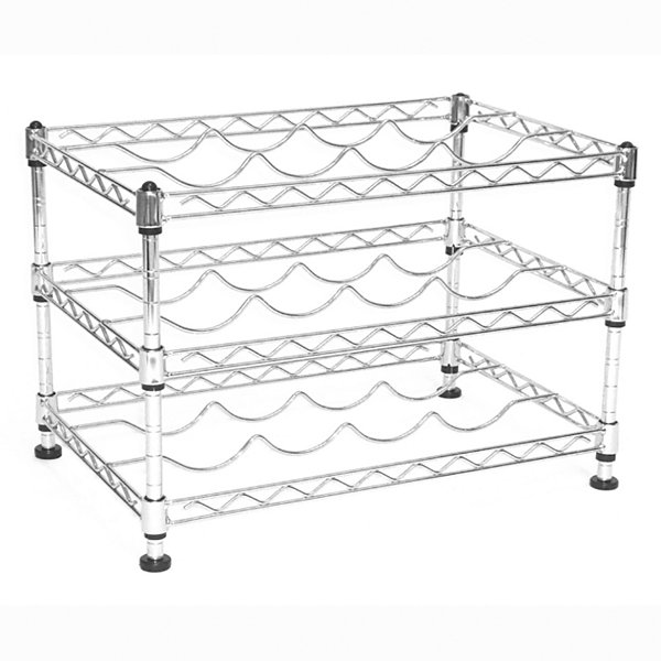 Seville Classics UltraZinc 12-Bottle Mini Wine Rack