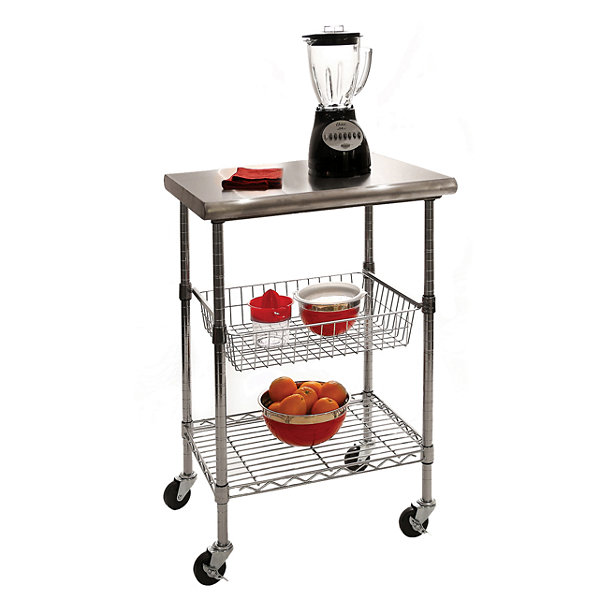 Seville Classics® Stainless Steel NSF certified Kitchen Work Table Cart