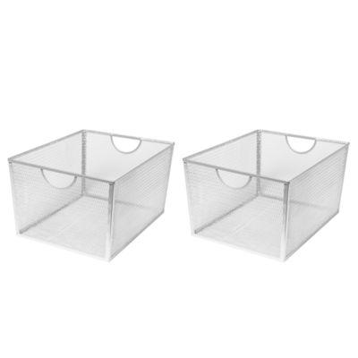 Seville Classics Extra-Large Wire Nesting Utility Shelf Storage Basket