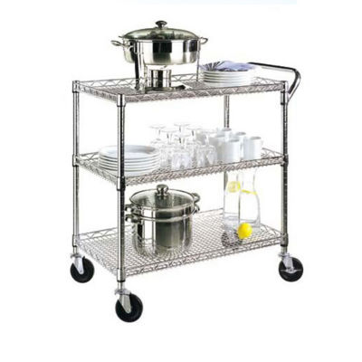 Seville Classics® 3-Shelf Commercial Utility Cart