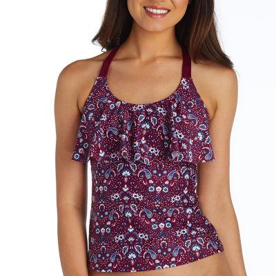 Arizona Paisley Tankini Swimsuit Top Juniors