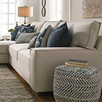 Signature Design By Ashley® Chevron Pouf Ottoman