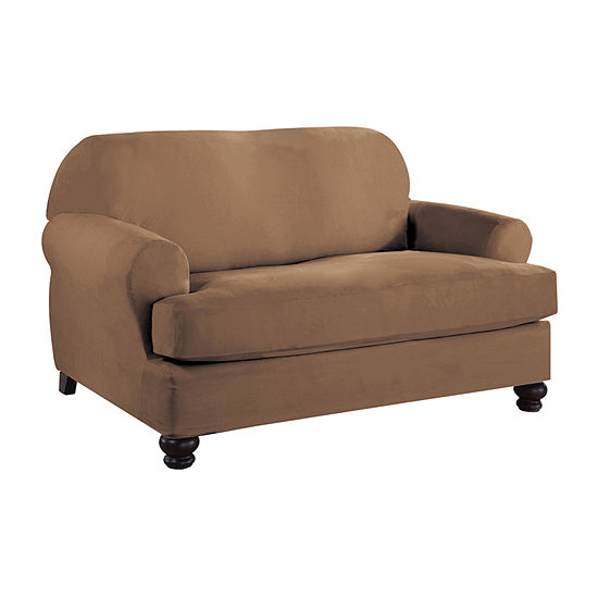 Serta Stretch Fit Microsuede Loveseat Slipcover