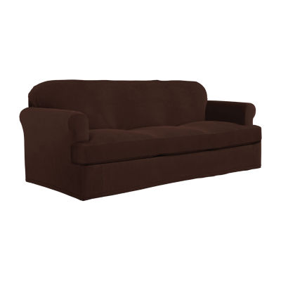 Serta Stretch Grid Velour Sofa Slipcover