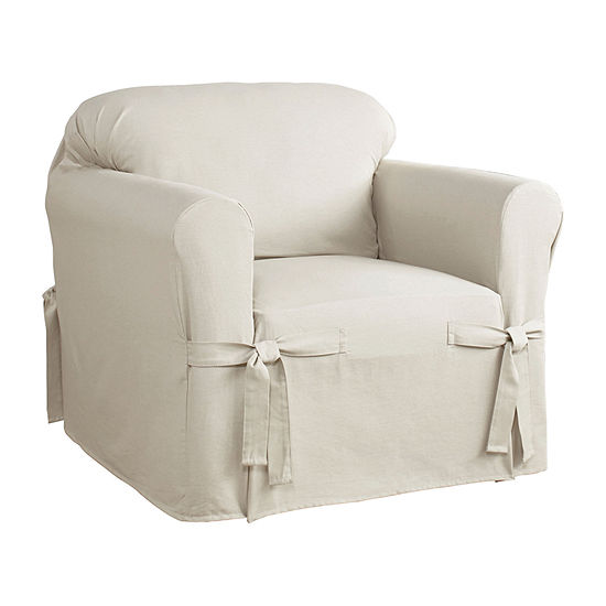 Serta Relaxed Fit Duck Cloth Chair Slipcover