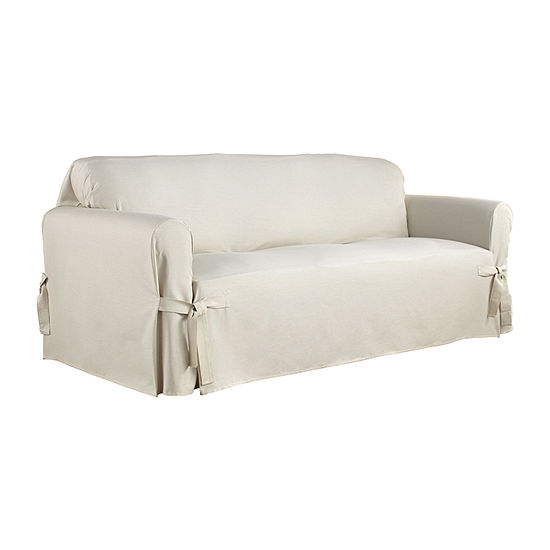 Serta Relaxed Fit Duck Cloth Sofa Slipcover