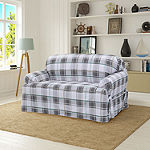 Serta Relaxed Fit Duck Cloth Loveseat Slipcover