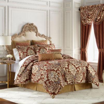 Croscill Classics Arden 4-pc. Damask + Scroll Heavyweight Comforter Set