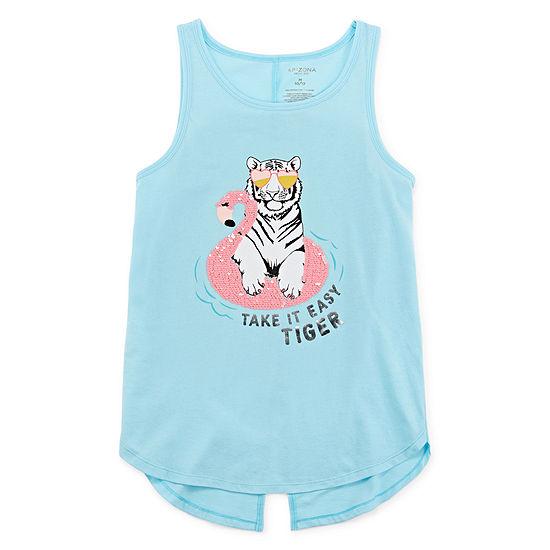 Arizona Girls Scoop Neck Tank Top - Preschool