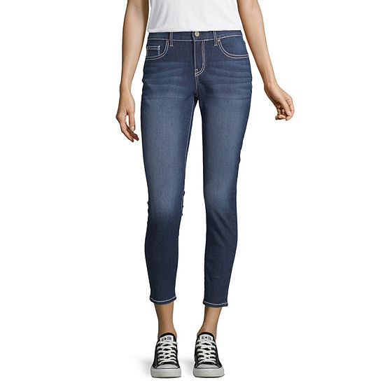 Us Polo Assn. Womens Mid Rise Skinny Fit Ankle Pant-Juniors