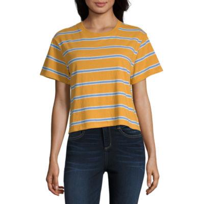 Arizona Womens Round Neck Short Sleeve T-Shirt Juniors