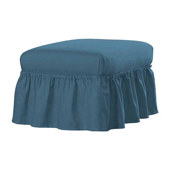 Serta Relaxed Fit Duck Cloth Ottoman Slipcover