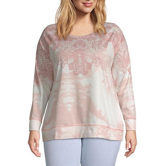 Como Vintage Womens Crew Neck Long Sleeve Sweatshirt Plus