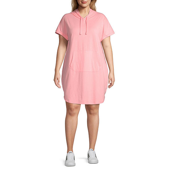 Xersion Short Sleeve Shirt Dress - Plus