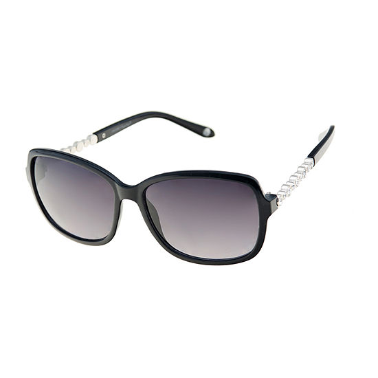 Nicole By Nicole Miller Womens Square Full Frame Uv Protection Sunglasses