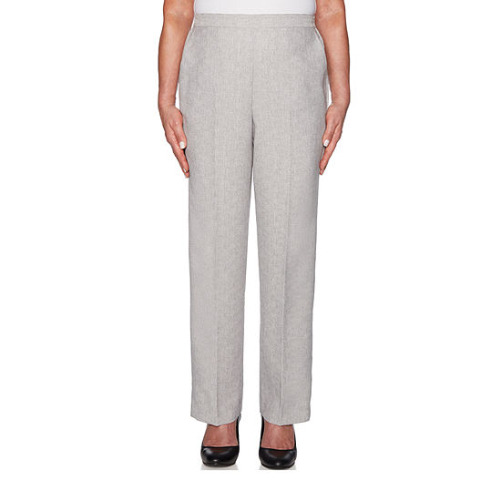 e13e049e77b56a Alfred Dunner Versailles Womens Straight Pull-On Pants - JCPenney