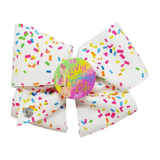 JoJo Siwa White 16th Birthday Confetti Bow with JoJo Pic Motif