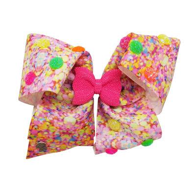 JoJo Siwa Pink Confetti 16th Birthday Bow With Bow Center Motif