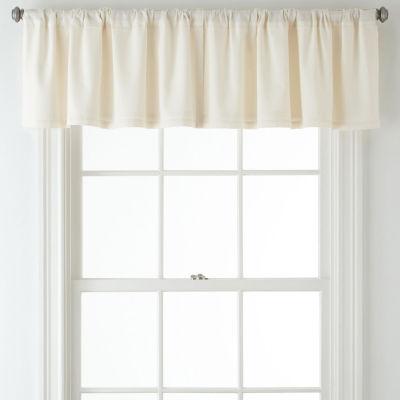 JCPenney Home™ Jenner Cotton Thermal Rod-Pocket/Back-Tab Valance