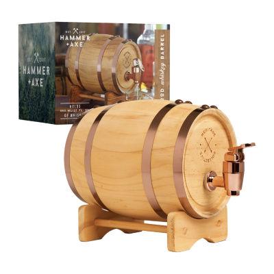 Hammer Axe Whiskey Barrel Beverage Dispenser
