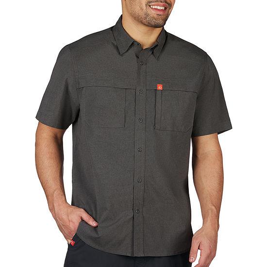 American Outdoorsman Mens Short Sleeve Moisture Wicking Button-Down Shirt
