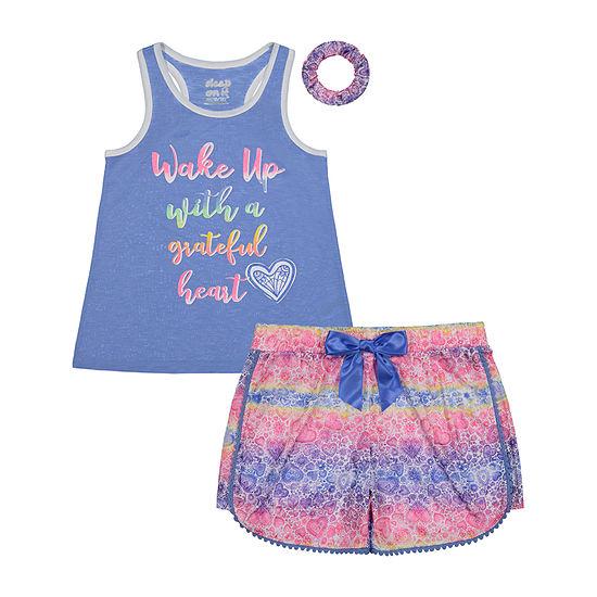 Sleep On It Big Girls 2-pc. Shorts Pajama Set