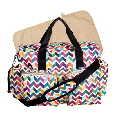 French Bull Chevron Deluxe Duffle Diaper Bag