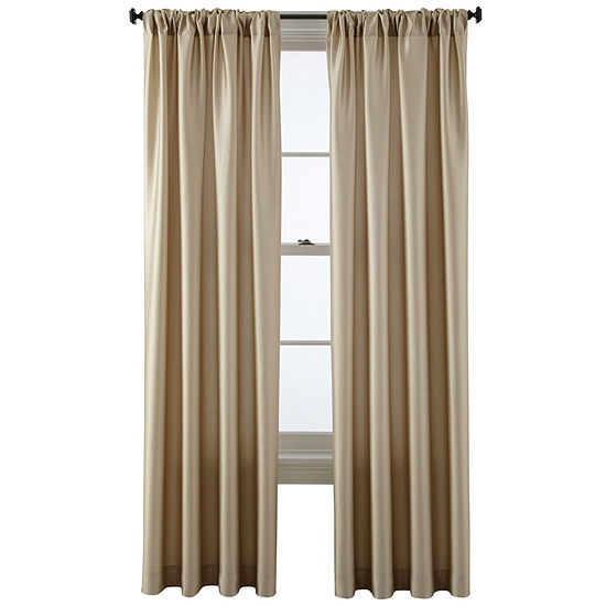 Studio Light-Filtering Rod-Pocket Single Curtain Panel