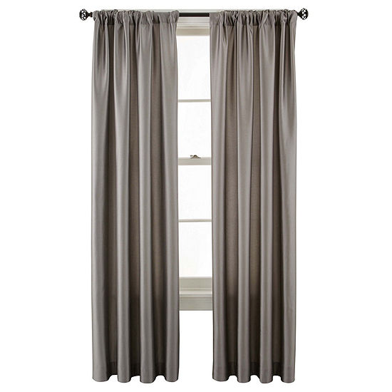 Studio Light-Filtering Rod-Pocket Single Curtain Panel