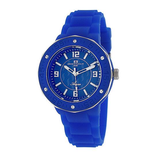 Oceanaut Womens Blue Rubber Bracelet Watch