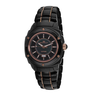 Oceanaut Ceramic Womens Black Mother-of-Pearl Bracelet Watch