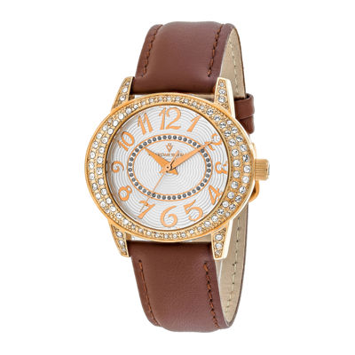 Christian Van Sant Sevilla Womens Brown Leather Strap Watch