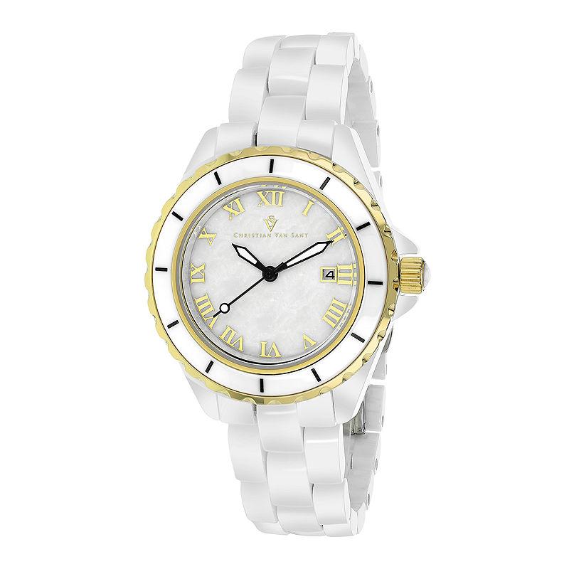 Christian Van Sant Ladies White Palace Bracelet Watch