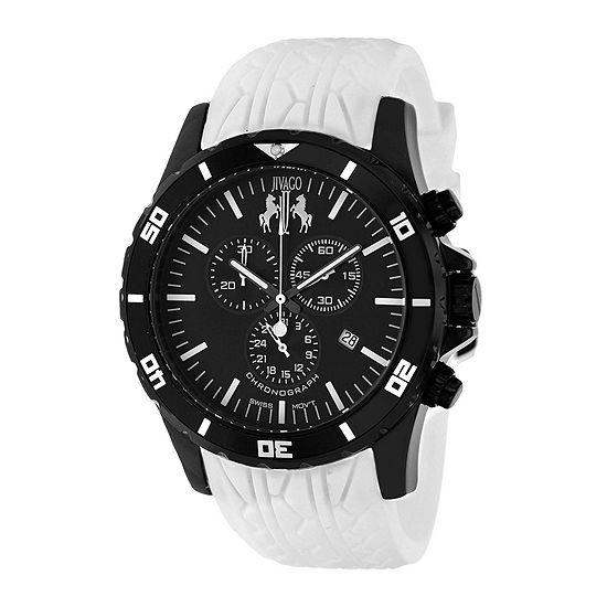 Jivago Mens Quartz Ultimate White Silicone Strap Watch