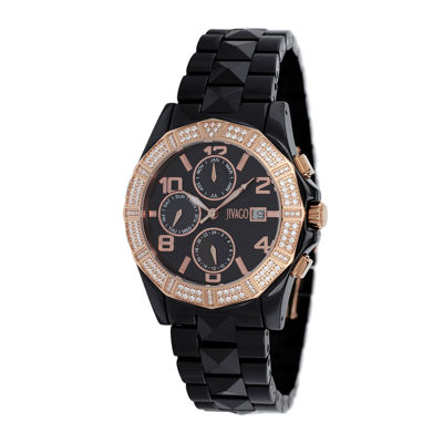 Jivago Prexy Womens Black Ceramic Bracelet Watch