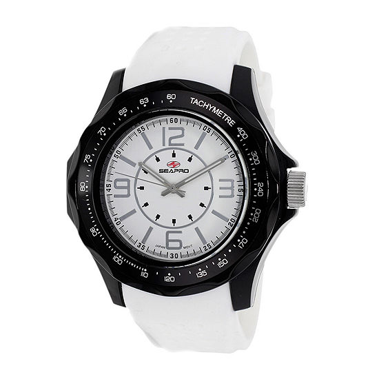 Seapro Dynamite Mens White Silicone Strap Watch