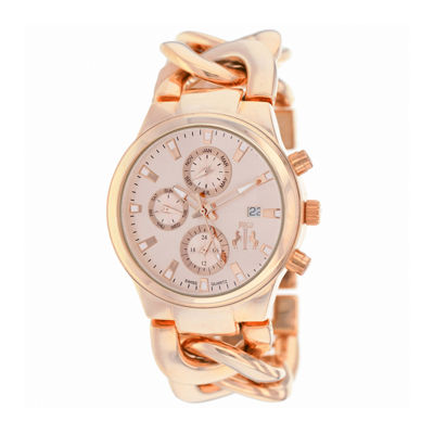 Jivago Lev Womens Rose-Tone Bracelet Watch