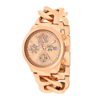Jivago Womens Levley Rose-Tone Stainless Steel Bracelet Watch
