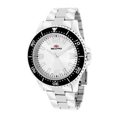 Seapro Tideway Mens Silver Dial Stainless Steel Bracelet Watch