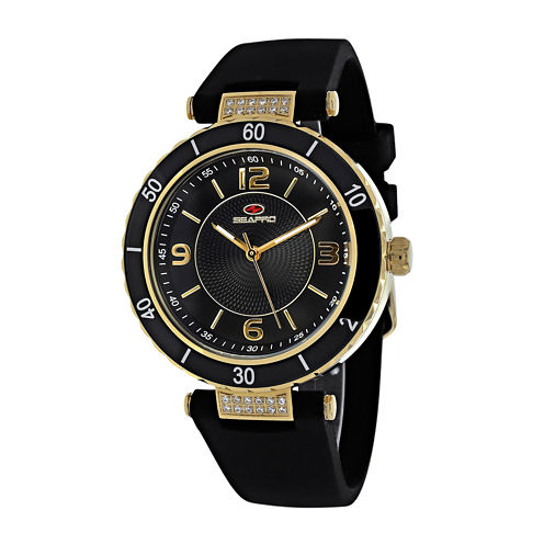 Seapro Seductive Womens Black Ceramic Strap Watch