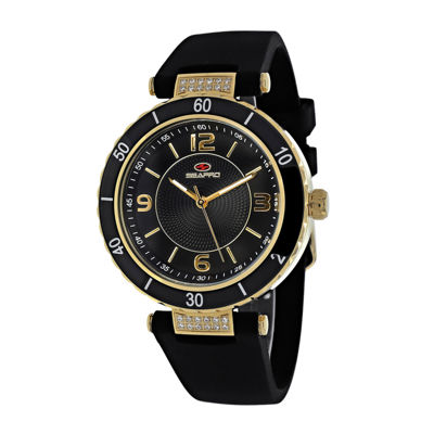 Seapro Seductive Womens Black Ceramic Strap Watch