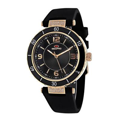 Seapro Seductive Ladies Black Strap Watch